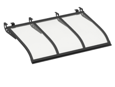 Shelter Segeln Stil Angriff Decken Grau Transparent Aluminium AMA