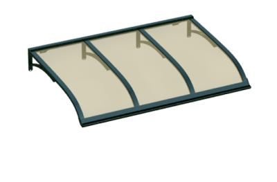 Shelter Vela Grüne Bronze Aluminium AMA Sonnenschutz