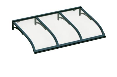 Shelter Vela Green Transparent Aluminium AMA Sonnenschutz
