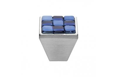 Mobil Linea Cali Knopf Kristall BRERA CHESS PB 30 CS einfügen Glas Blau Weiß
