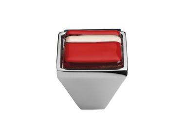 Mobil Linea Cali Knopf Kristall BRERA LINEAR PB 21Cr Glass Red einfügen