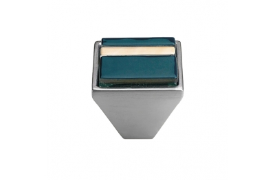 Mobil Linea Cali Knopf Kristall BRERA LINEAR PB 31 CS einfügen Blue Glass