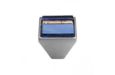 Mobil Linea Cali Knopf Kristall BRERA LINEAR PB 32 CS einfügen Glas Blau