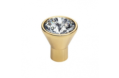 Mobil Linea Cali Knopf Kristall-Diamant-OZ Swarowski® mit reinem Gold