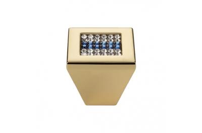 Mobil Linea Cali Knopf Crystal Mesh Blau PB mit Swarowski® Blu Oro Zecchino