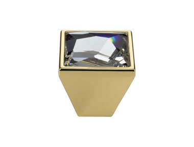 Knopf Linea Cali Mobil Pop-Art-PB mit Kristallen Swarowski® Oro Zecchino