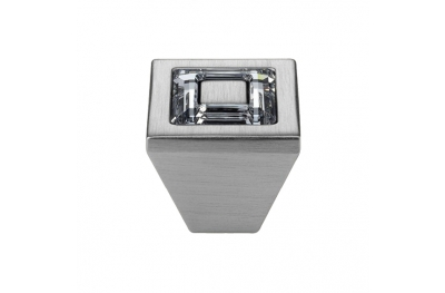 Knopf Linea Cali Mobil Ring Kristall PB mit Kristallen Swarowski® Satin-Chrom