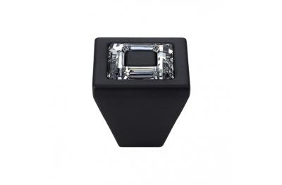 Knopf Linea Cali Mobil Ring Kristall PB mit Kristallen Swarowski® Matt Black