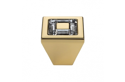 Knopf Linea Cali Mobil Ring Kristall PB mit Kristallen Swarowski® Oro Zecchino