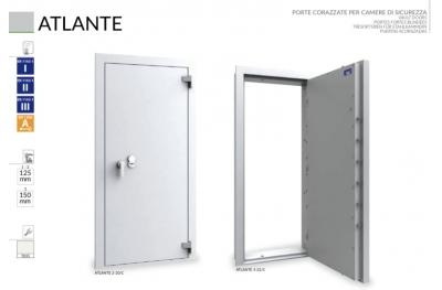 Gepanzerte Tür für Caveaux und Sicherheitskammern Caveaux Atlante Bordogna