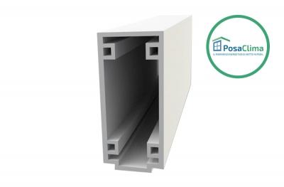 Kleine untere Traverse PosaClima extrudiertes PVC-Boxprofil
