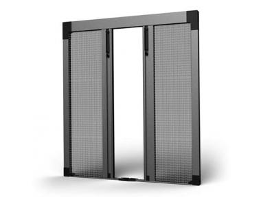 SharkNet Plissee Moskitonetz Zentralöffnung 04 für Balkone und Fenstertüren