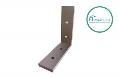 80x80 mm Aluminium Eckhalterung für Klima Pro Counterframe