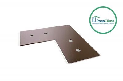 Ausrichtplatte aus verzinktem Stahl für Klima Pro PosaClima Counterframe
