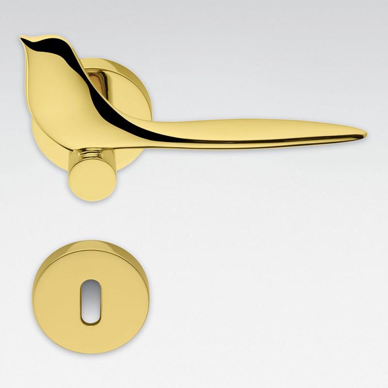 Twitty polierter Chrom-Türgriff mit Rosette Gewinner Colombo Design International Award