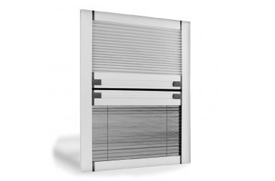 Vertikaler Blackout Insektenschutz Plissee Moskitonetz für Fenster Circe Duo