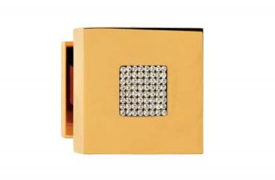 Zen Mesh 1157 PT-Knauf für Calì Line Door mit italienischen Swarovski-Kristallen